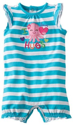 Octopus Jumping beans striped romper - baby