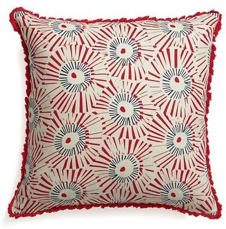 Crate & Barrel Fireworks Pillow with Down-Alternative Insert