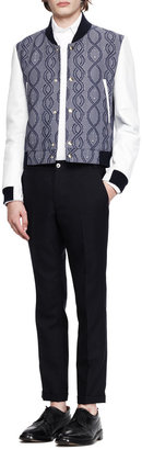 Thom Browne Tapered Ankle-Cuff Trousers