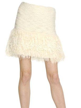 Blumarine Wool Mohair Bouclé Knit Skirt