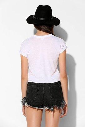 Glamorous Frayed Cutout Denim Short
