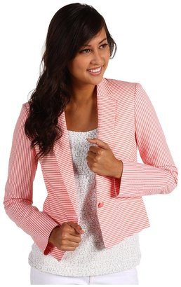 Anne Klein Seersucker Blazer Women's Jacke
