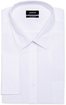 Alfani Big and Tall Solid Performance French Cuff Shirt $57.50 thestylecure.com