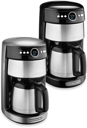 KitchenAid 12-Cup Thermal Carafe Coffee Maker in Contour Silver