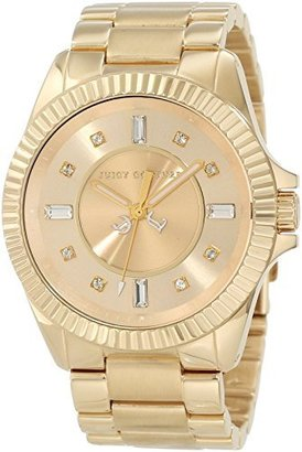 Juicy Couture Women's 1900929 Stella Gold Bracelet Watch $115 thestylecure.com