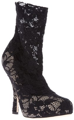 Dolce & Gabbana lace ankle boot
