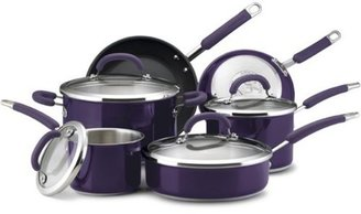 Rachael Ray 10-pc. Stainless Steel Cookware Set, Eggplant