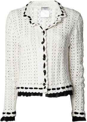 Chanel double collar crochet jacket