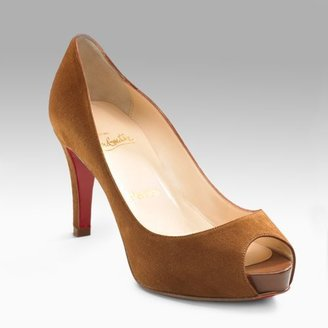 Christian Louboutin Very Prive 70 Suede Pumps