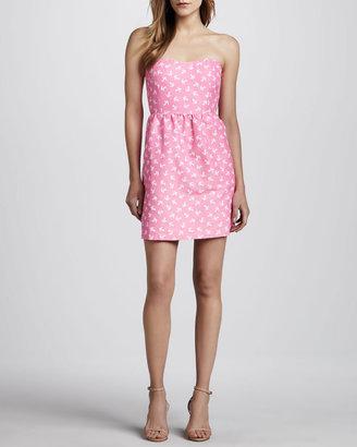 Julie Brown Skipper Strapless Anchor-Print Dress