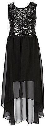 Ruby Rox 7-16 Sequin Emma Satin Dress