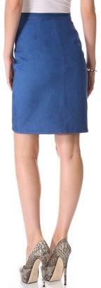 Tess Giberson Leather Pencil Skirt