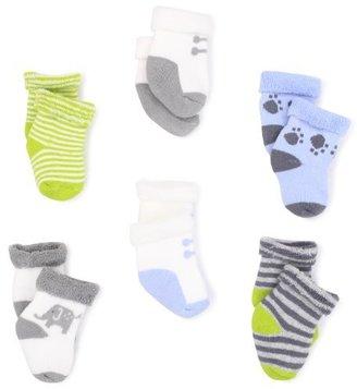 Carter's Hosiery Baby-boys Newborn Six Pack Terry Roll Sock