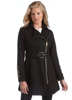 Bebe Fit and Flare Peplum Coat