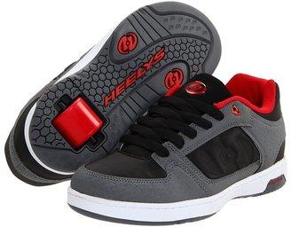 Heelys Double Threat (Little Kid/Big Kid/Men's) (Black/Red/Grey) - Footwear