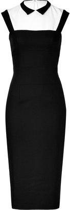 L'Wren Scott LWren Scott Black/White Wool-Blend Headmistress Dress