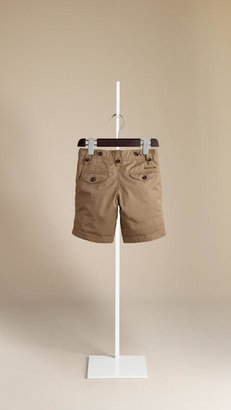 Burberry Check Lined Cotton Shorts