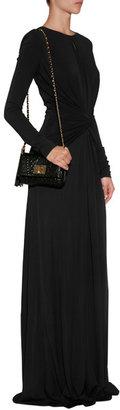 Elie Saab Draped Gown in Black