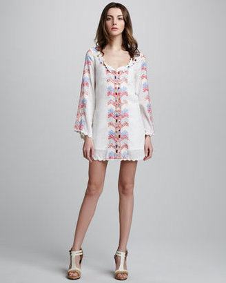 Free People Embroidered Zigzag Dress