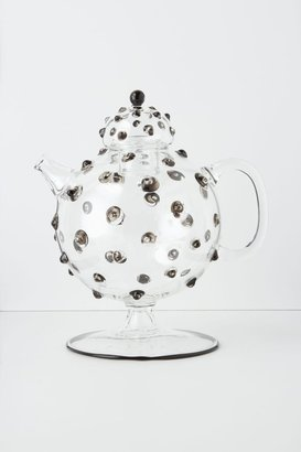 Anthropologie Hobnail Glass Tea Pot
