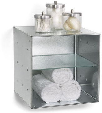 Container Store Wall-Mounted Galvanized QBO Divided Steel Cube