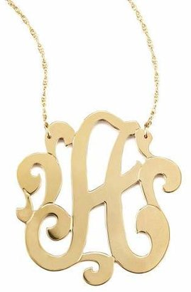 """Jennifer Zeuner Jewelry SWIRLY LG INTIAL NECKLCE """"A"""""""