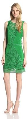 Tracy Reese Women's Lace Work Cdc Inset Sleeveless Shift Dress