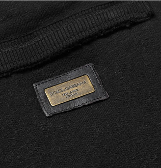 Dolce & Gabbana Raw-Edged Cotton-Blend Jersey Sweatpants