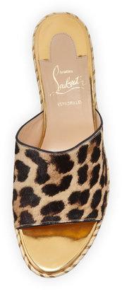 Christian Louboutin Myriama Platform Wedge Sandal, Leopard