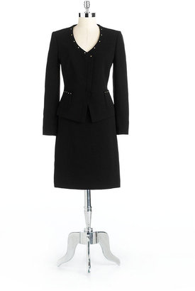 Tahari ARTHUR S. LEVINE Two-Piece Studded Skirt Suit