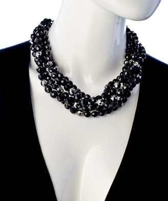 Ben-Amun Ben Amun Five Strand Black Pearl Necklace