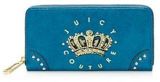 Juicy Couture Hanging Stone Velour Zip Wallet