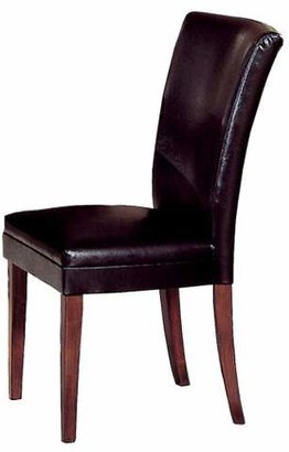 Homelegance Vinyl Dining Chair Wood/Brown (Set of 2)