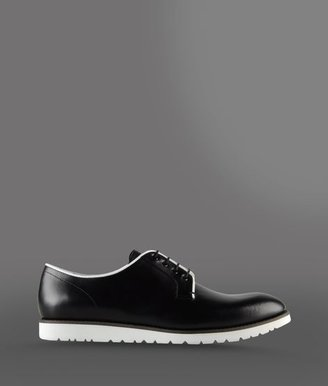 Emporio Armani Derby In Two-Color Brushed Calfskin