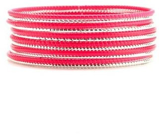 Charlotte Russe Etched Neon Bangle Set