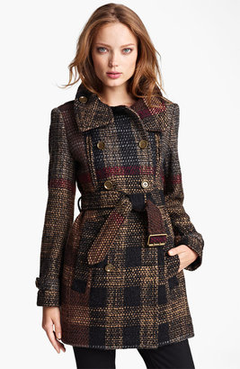 Burberry Double Breasted Wool Blend Coat