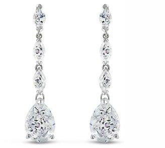 Ice.com 25 3/8 Carat Cubic Zirconia Sterling Silver Dangle Earrings