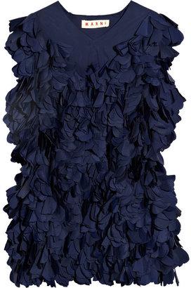 Marni Petal-embellished taffeta top