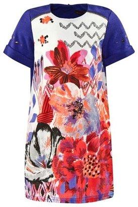 Catimini White Multi Printed Dress