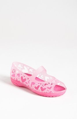 Crocs 'Adrina Hearts' Sandal (Walker, Toddler & Little Kid) Carnation/ Neon Magenta 12 M