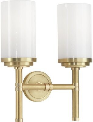 Rob-ert Robert Abbey Halo 2-Light Armed Sconce Robert Abbey Finish: Brushed Brass