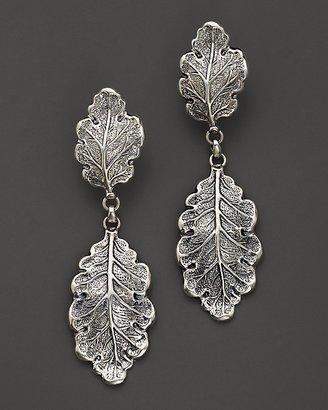 "Buccellati Oak"" 1 Small 1 Medium Leaf Pendant Earrings"