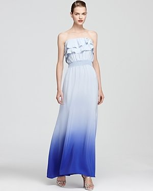 Jay Godfrey Ombre Dress - Perla Pleated Neckline