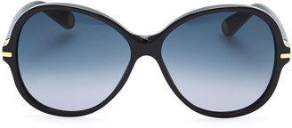 Marc Jacobs Round 503 Gradient Sunglasses, Black/Blue