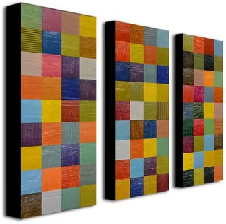3-pc. ''Color Collage 108'' Canvas Wall Art Set by Michelle Calkins