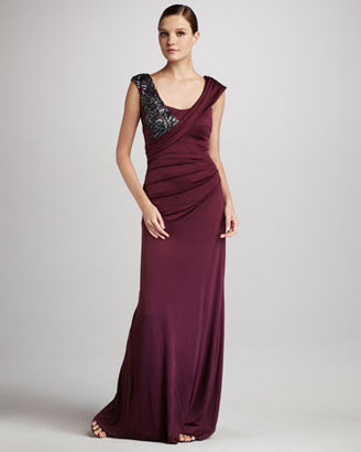 Kay Unger New York Sleeveless Gown with Beaded Embellishment