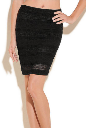 GUESS Lace Pencil Skirt