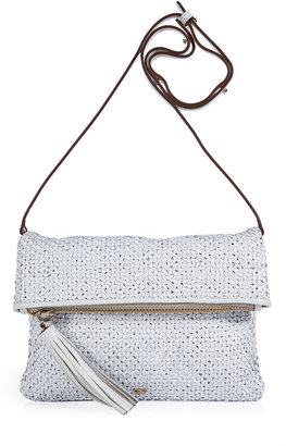 Anya Hindmarch White Woven Leather Huxley Clutch