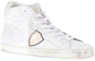 Philippe Model contrast panel sneaker