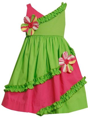 Bonnie Jean floral ruffled tiered sundress - toddler